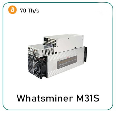 MicroBT Whatsminer M31s 70Th/s Bitcoin Miner